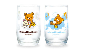 ミスドリラックマペアグラス